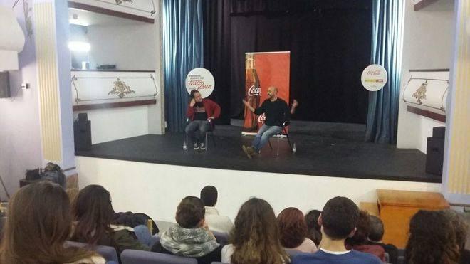 Taller de Toni Gomila para los jóvenes de los Premios Buero de Coca-Cola