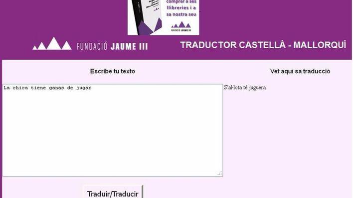 Más de 5.000 usuarios han usado el traductor mallorquín-castellano de Fundació Jaume III