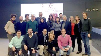 Directivos mallorquines visitan la sede de Inditex