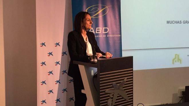 Un momento de la intervención de la presidenta de la FEHM