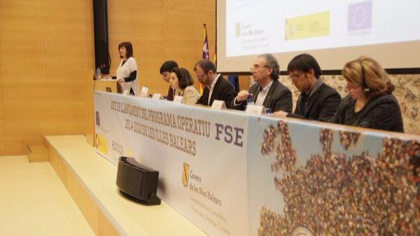 Francina Armengol en la presentación del plan europeo