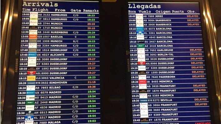 La Semana Santa arranca con cancelaciones y retrasos en el aeropuerto de Son Sant Joan