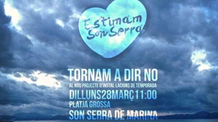 Los ecologistas convocan una nueva concentración en contra del chiringuito de Son Serra