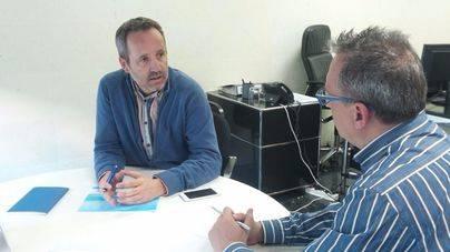 Muñoz, en su despacho de la ABT (Fotos: Jorge S. L.)
