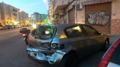 Una conductora arrolla a 3 vehículos en Palma