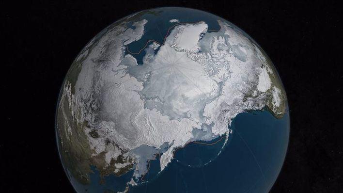 La capa de hielo invernal en el Ártico se reduce al mínimo desde 1979