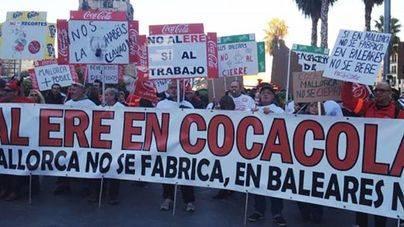 Manifestación contra el ERE de la empresa en 2014