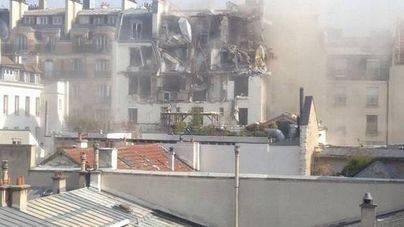 Explosión en un edificio de París