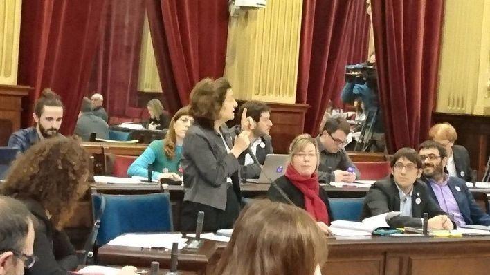 La Consellera Fina Santiago, en el Parlament