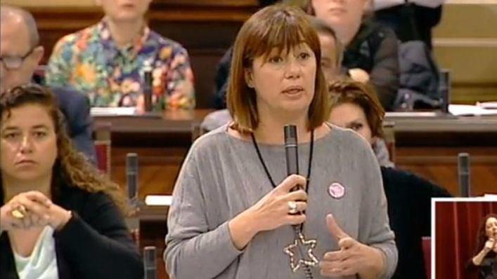 Francina Armengol durante su intervención