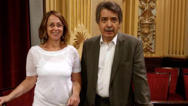 Los diputados de Ciudadanos en el Parlament balear, Olga Ballester y Xavier Pericay
