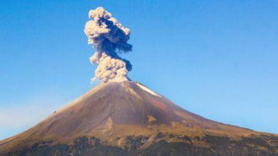 Entra en erupción el volcán Popocatépetl