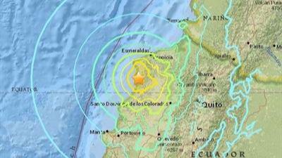 Ascienden a 233 los muertos por el terremoto de Ecuador