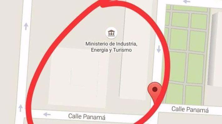 Imagen del mapa de la ubicación del ministerio