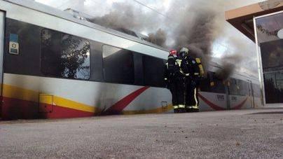 Se incendia uno de los vagones del tren en Binissalem