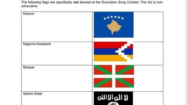 Eurovision prohibe la ikurriña y la bandera del DAESH