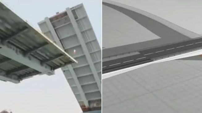 Una empresa española construye al revés un puente en Chile