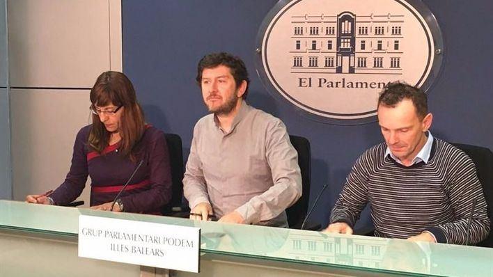 Imagen de la rueda de prensa de Alberto Jarabo