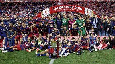 El Barcelona rubrica su doblete con la Copa