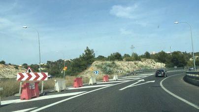 Suprimido por sorpresa un carril de acceso a la Ma-20 desde Andratx