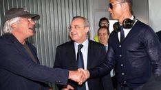 Richard Gere saluda a Cristiano Ronaldo