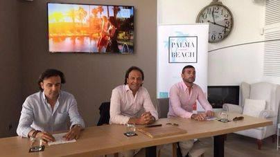 Mika Ferrer, Juan Miguel Ferrer y Pedro Mar�n en la presentaci�n de #PalmaBeach