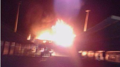 Incendio en un almacén de productos químicos de Manacor