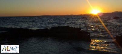 Puesta de sol en pleno anticiclón