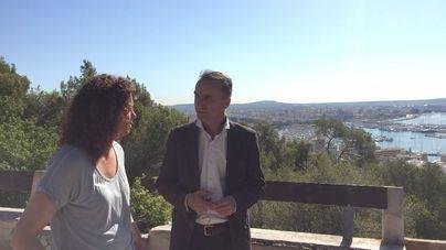 Pons (PSIB) sube al Castillo de Bellver para pedir una mejor financiación para Balears