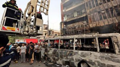 Al menos 80 muertos en un atentado en una zona comercial de Bagdad