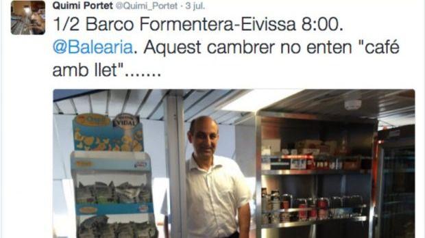 Baleària no despedirá al camarero aunque cree que
