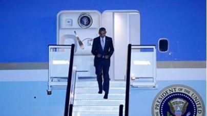 Obama aterriza en Madrid