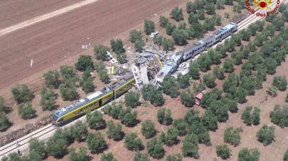 20 muertos por un choque entre dos trenes en Italia