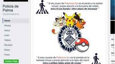 La Policía Local de Palma también advierte de los riesgos de jugar a Pokémon Go