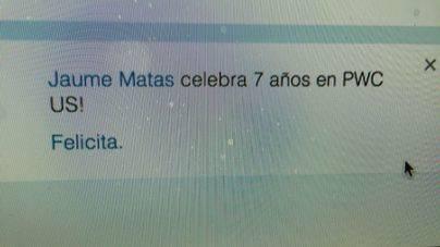 Linkedin cree que Jaume Matas aún trabaja en PricewaterhouseCoopers