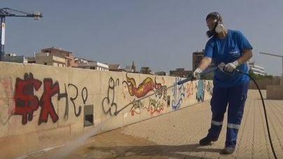 Uno de los presuntos autores de los graffitis en Es Baluard des Príncep es un menor de 12 años