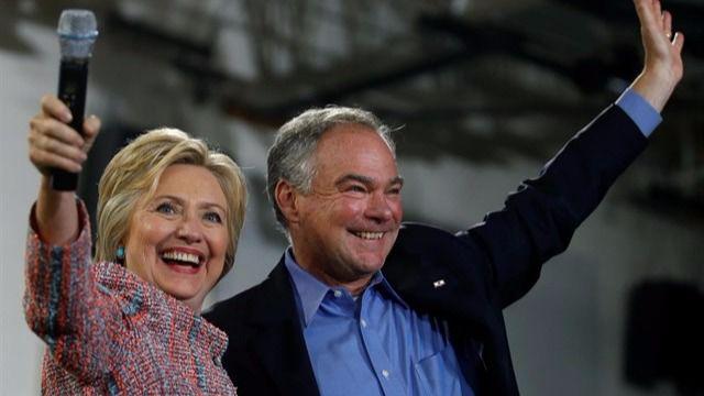 Clinton elige como vicepresidente a Tim Kaine