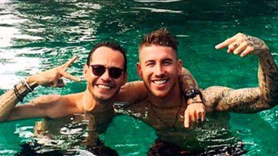 Sergio Ramos y Marc Anthony siguen compartiendo vacaciones