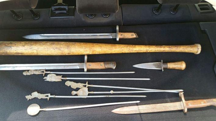La Policía Local halla un arsenal en un coche en Pere Garau