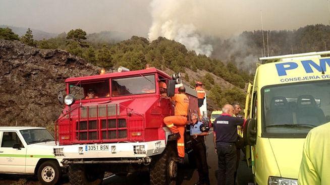Muere un agente forestal que trabajaba en el incendio de La Palma