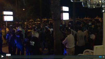 Detenidos 3 vendedores ambulantes tras una pelea y una concentración masiva en S'Arenal