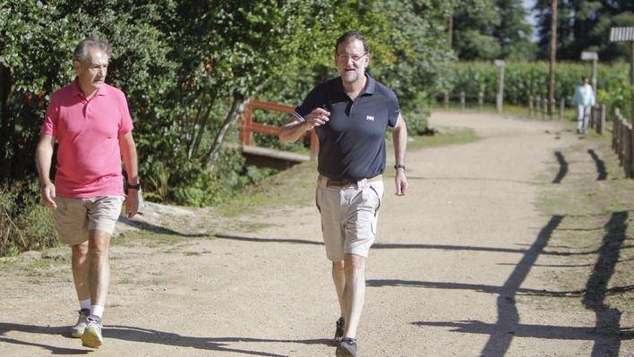 Rajoy se relaja en Galicia