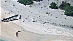 Rescatados de una isla desierta gracias a su S.O.S en la arena