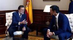 S�nchez traslada a Rajoy su 'No' a la investidura en una reuni�n de 25 minutos