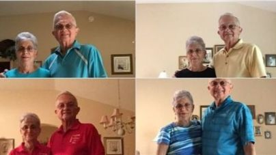 Una pareja de abuelos convierten en viral sus fotos vistiendo igual