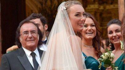 Albano y Romina Power celebran juntos la boda de su hija