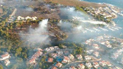 Controlado el incendio de Menorca tras quemar 36,7 hectáreas