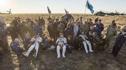 Tres astronautas regresan a la Tierra tras una misión de 172 días