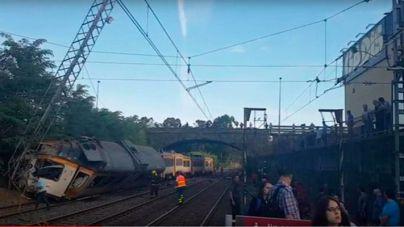 4 muertos y decenas de heridos al descarrilar un tren en Pontevedra