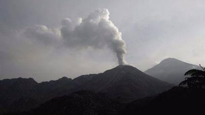 El volcán Santiaguito entra en erupción